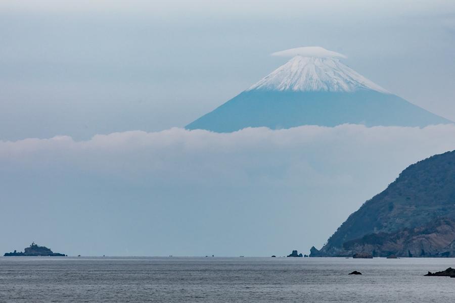 【松崎からの富士山】いよいよ冬富士の美しさに…