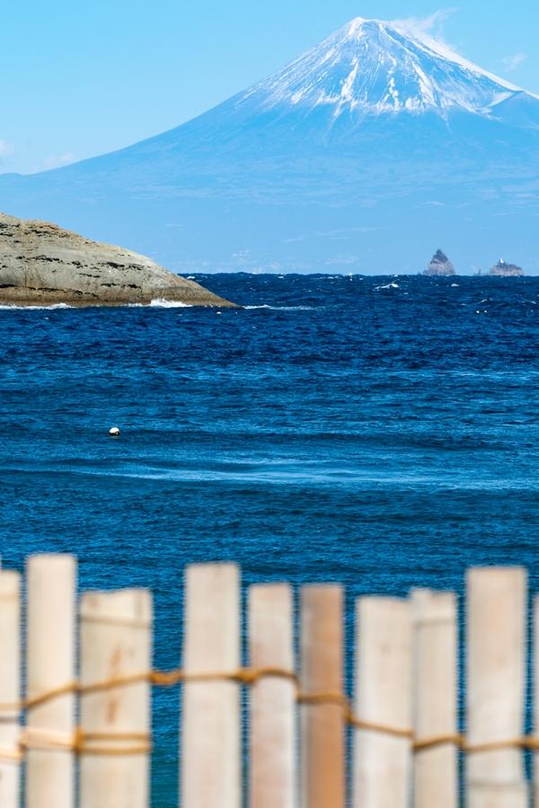 【雲見富士】砂防柵越しから