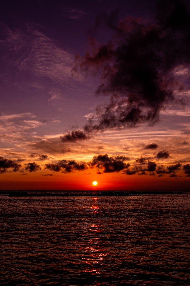 【本日の夕陽】松崎海水浴場より