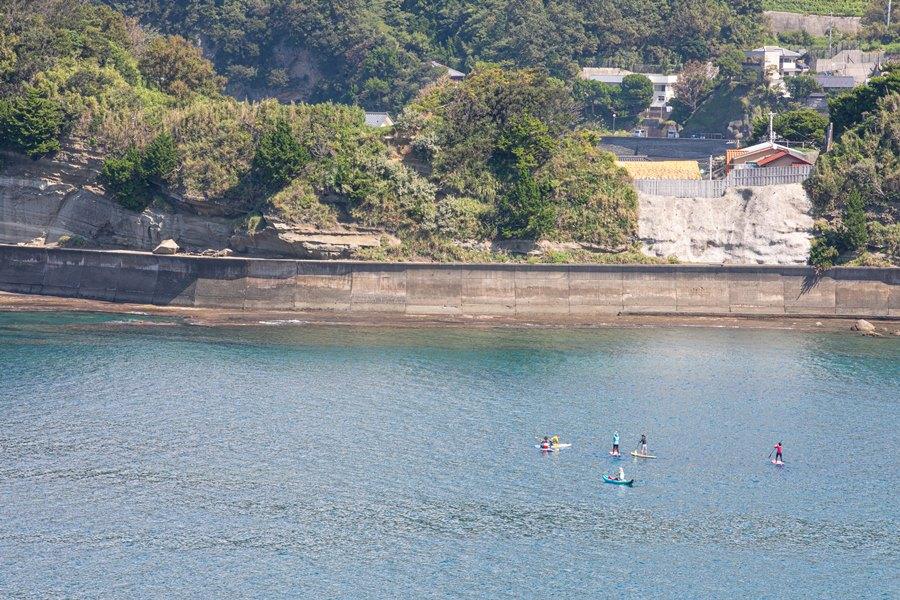 【9月の松崎】各海岸でシースポーツが盛んです。