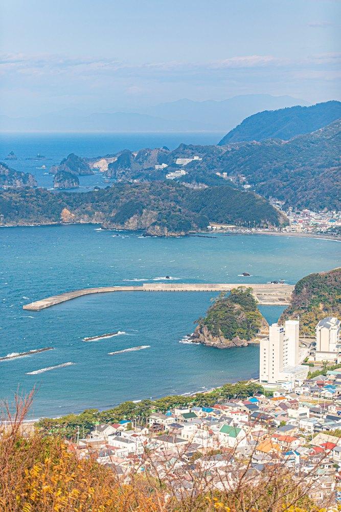 【牛原山より】松崎を見下ろす景観