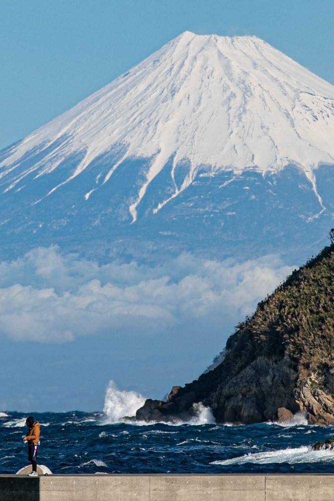 【石部富士】雪が濃くなってきました。