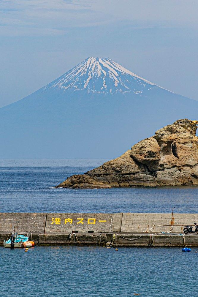 【雲見富士】少しづつ青富士へ