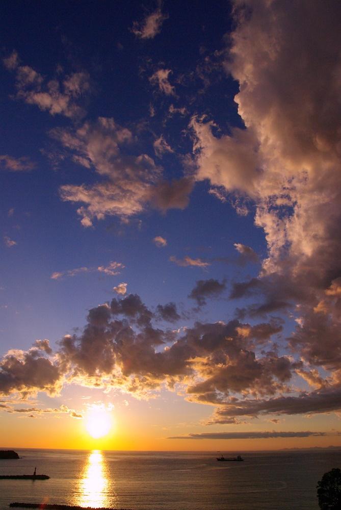 松崎海岸からの夕景