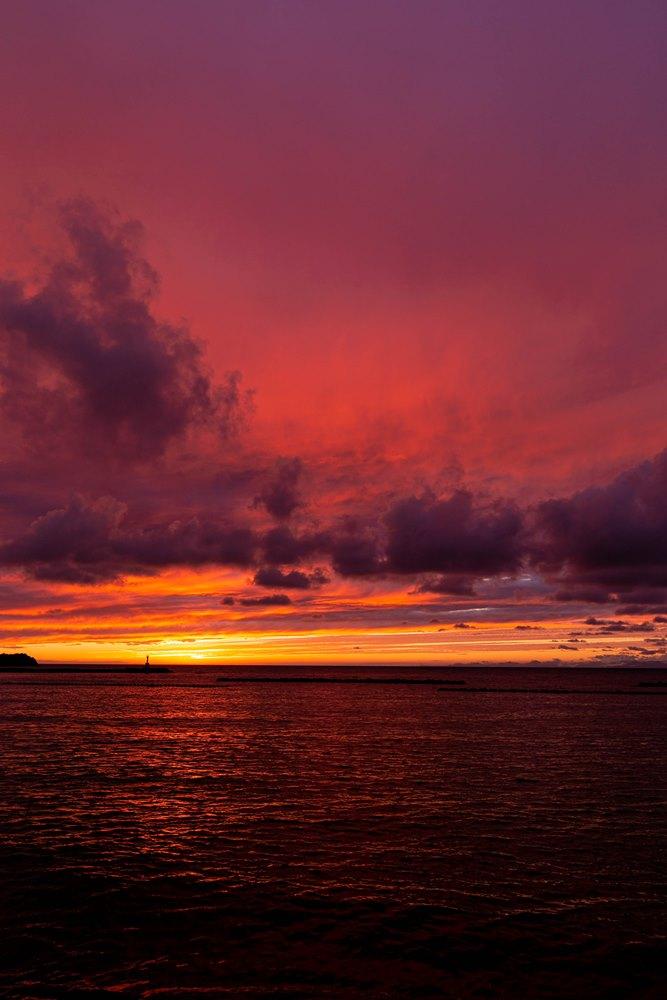 今日の松崎海岸からの夕景