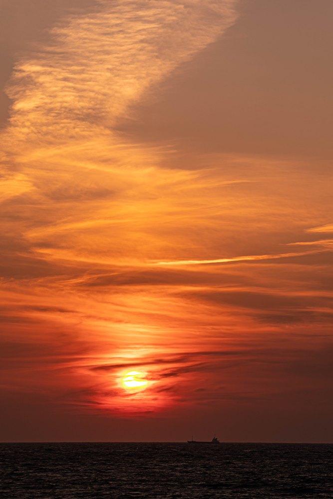 【松崎の夕陽】秋も深まり美しく