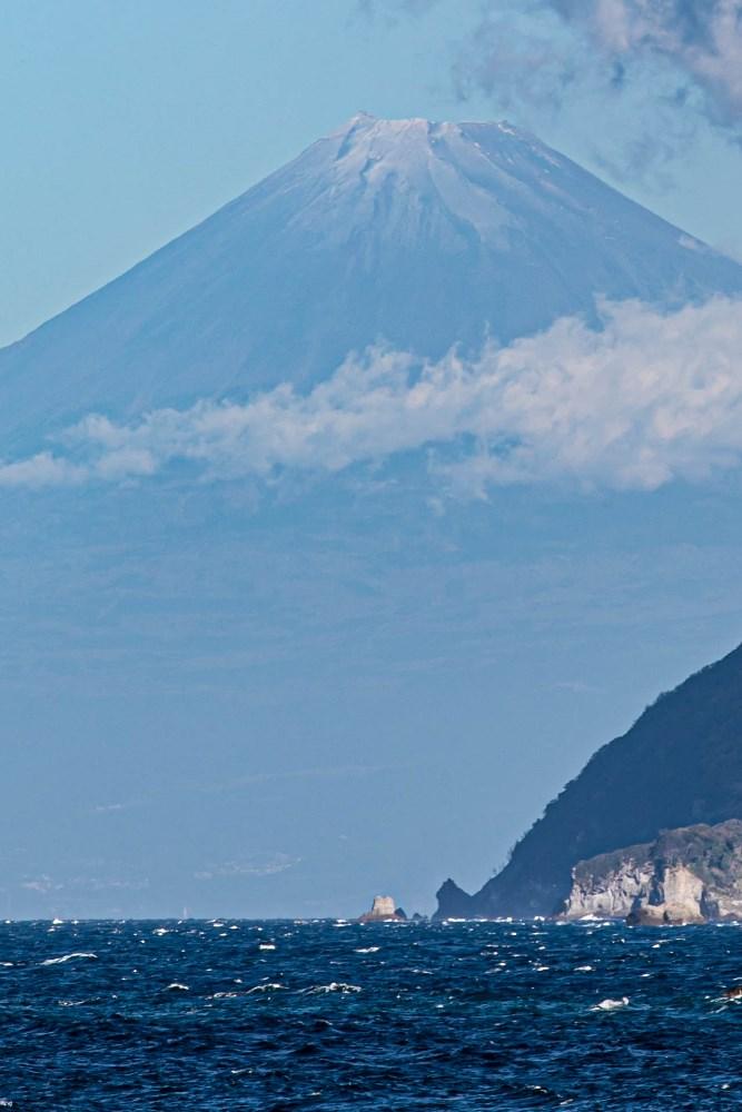 【本日の富士山】石部海岸より
