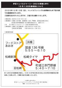 伊豆トレイルジャーニー2020開催に伴う12月13日交通規制について