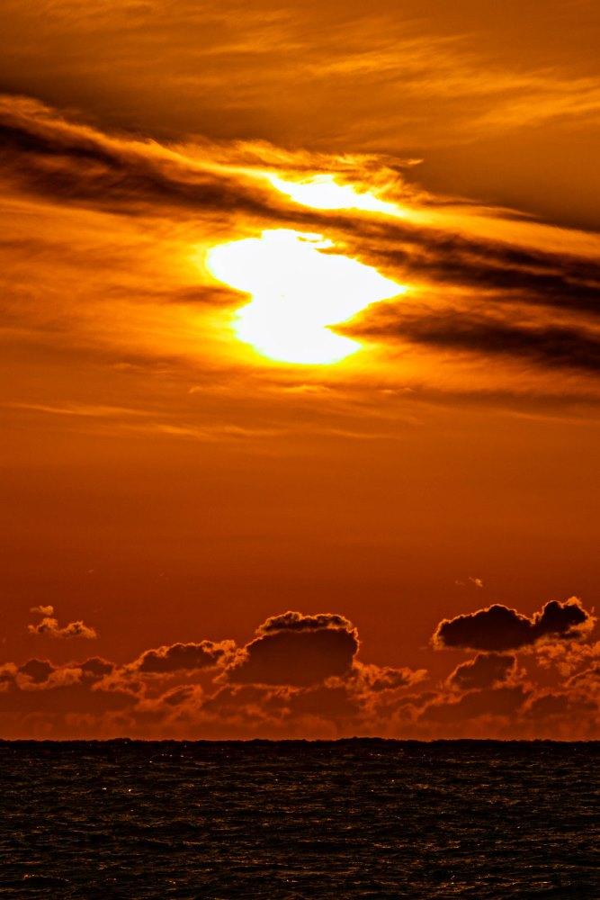 冬の夕陽が鮮やかです