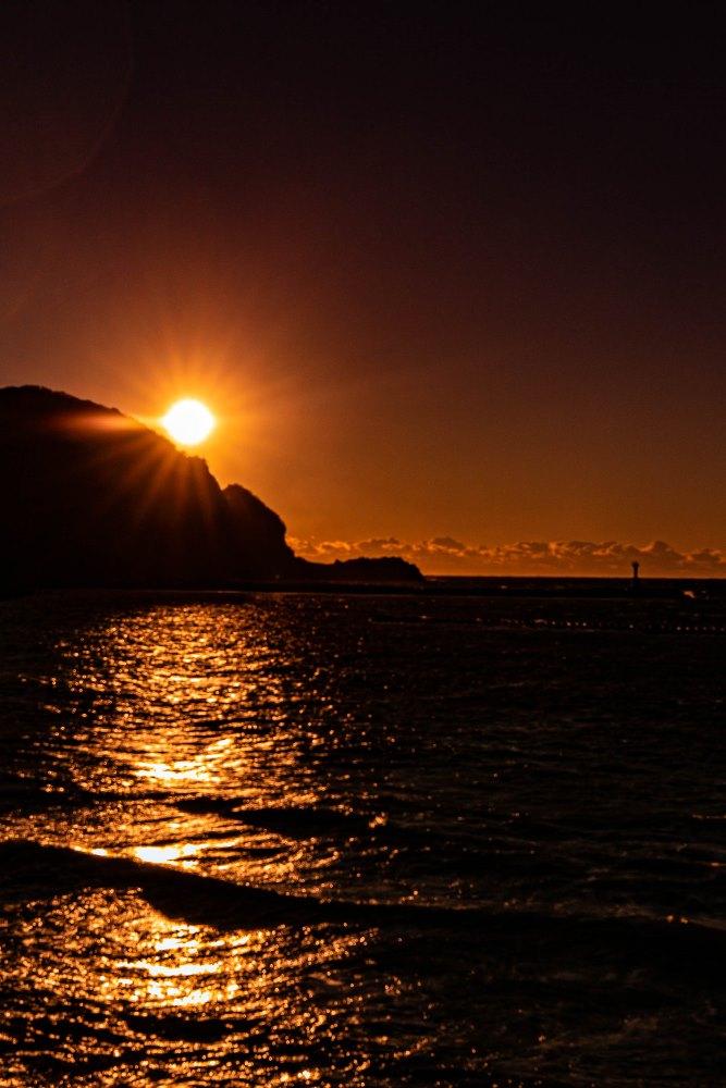 【本日の夕陽】松崎海岸より