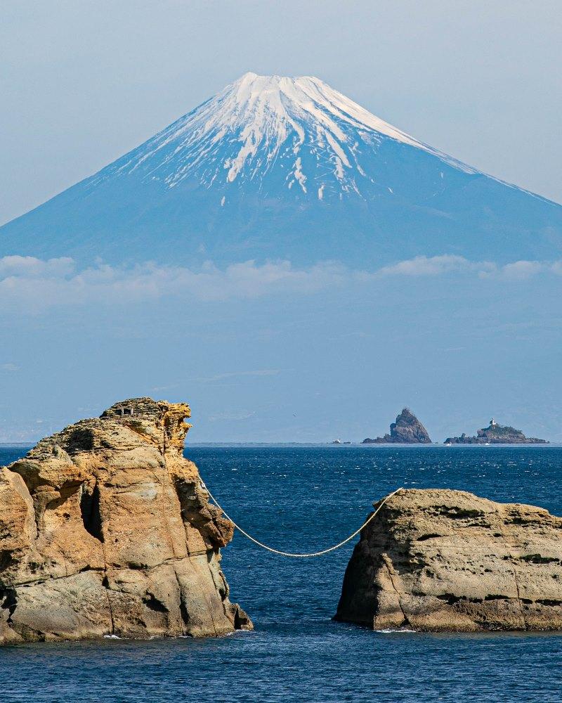 【今日の富士山】雲見海岸より
