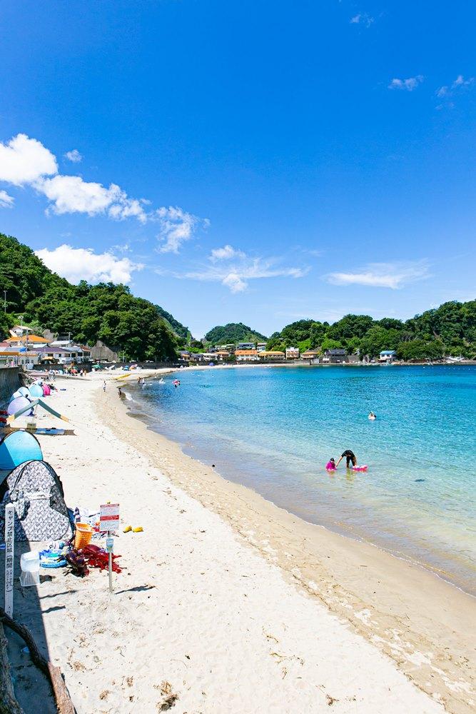 本日から松崎町内の4つの海水浴場が開設となりました!