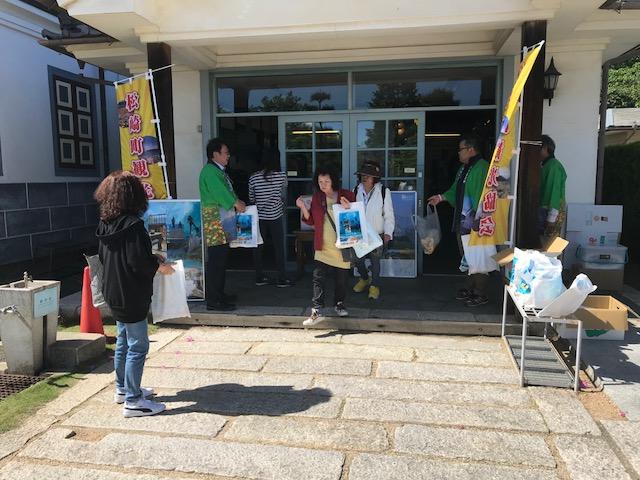 5/19(土)松本市の旧開智学校にて観光交流キャンペーンが行われました。