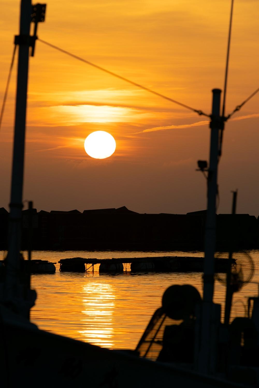 【松崎の夕陽】潮風に吹かれながら夕涼み