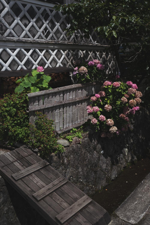 ~深みある紫陽花の彩り と なまこ壁~